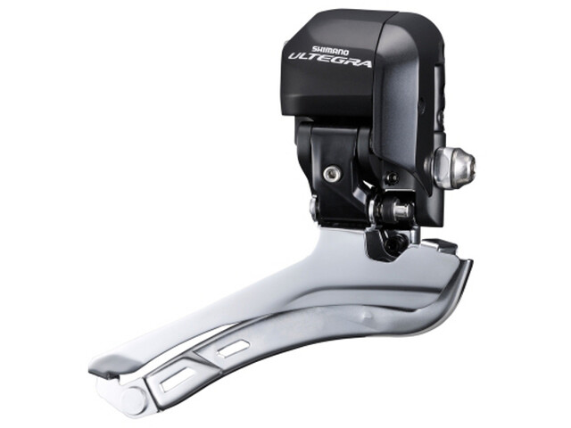 Shimano Ultegra Di2 FD-6870 Deragliatore 2 velocità, black/grey